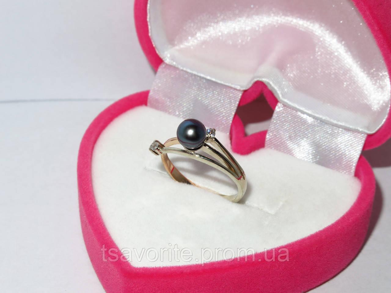 Золотое кольцо с жемчугом 9497-Ч