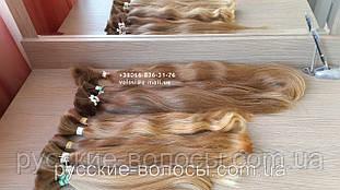 Детские волосы славянские волнистые русые неокрашенные на капсулах. Детские.