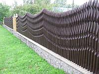 """Забор деревянный """"ВОЛНА"""". Как образец."""