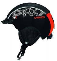Горнолыжный шлем Casco Mini Pro black-neonred