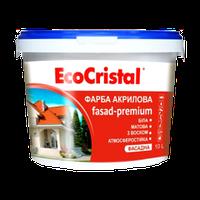 Краска фасадная акриловая EcoCristal Фасад-Премиум ИР-132 с воском 10 л