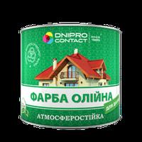 Краска масляная для крыш Днепр-Контакт зеленая 2,5 кг