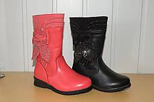 Демісезонні чобітки для дівчинки чорні 27,28 р
