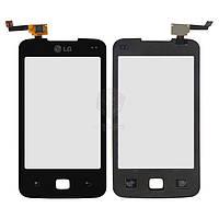 Сенсор (Touch screen) LG E510 black Optimus Hub оригинал