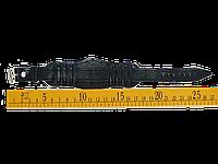 Ремешок 18 мм черный фигурный сплошной