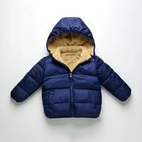 Детская куртка демисезонная для мальчика с теплой подкладкой  90, 100, 110