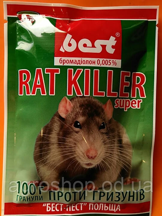 Рат Киллер гранулированная приманка от крыс и мышей 100г