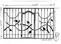 Эскиз кованой решетки