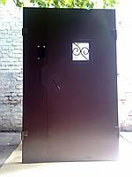 Подъездная дверь утепленная двухстворчатая   под домофон