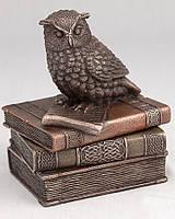 """Шкатулка сова на книге 12 см """"Veronese"""" 75509A4"""