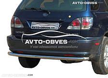 Защита заднего бампера Лексус RX от ИМ Автообвес (п.к. AK)