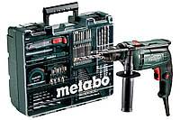 Мобильная мастерская: ударная дрель Metabo SBE 650 +набор принадлежностей