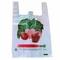 Пакеты майка ОВОЩИ 30х50см, плотные полиэтиленовые пакеты