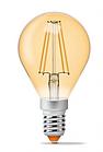 Лампа Videx Filament G45FA 4W E14 2200K 220V бронза, фото 2