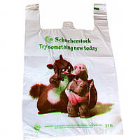 Пакеты майка ЗВЕРИ 30х50см, плотные полиэтиленовые пакеты