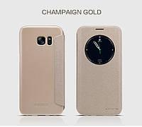 Чехол книжка для Samsung Galaxy S7 (G930) Nillkin Sparkle золотой