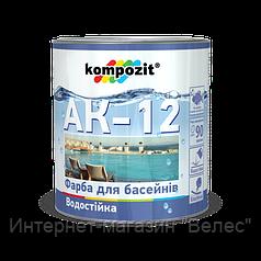 Краска для бассейнов АК-12 Kompozit Голубая 0,9 кг