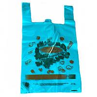 Пакеты майка GOOD LUCK 30х50см, плотные полиэтиленовые пакеты