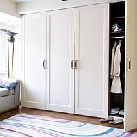 Классический белый распашной шкаф