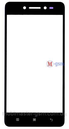 Корпусное стекло на  Lenovo S90 Graphite черное, фото 2