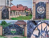 Кованые ворота от эскиза до готового проэкта