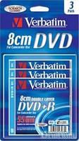 Диски DVD Verbatim DVD-R 4x (B-3) 2,66GB Verbatim Silver DL
