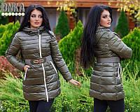 Женская зимняя куртка Нина БАТАЛ