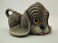 Керамическое изделие из глины ручной работы Статуэтка Спаниель 16х9 см