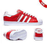Adidas Superstar Red White style