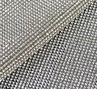 Стразовое термополотно Crystal. Розмір страз SS6 (1.9-2.0 мм). Ціна за відріз 1х24 см, фото 1
