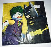 Серветки Лего Бетмен 33 см