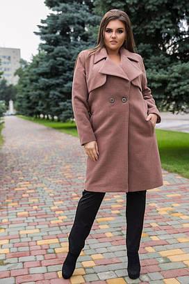 Женское пальто №42-321/1 БАТАЛ