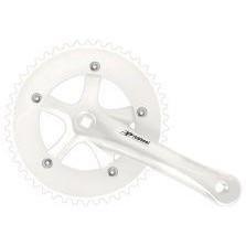 Шатуны PROWHEEL Solid-246 46T 165мм белые fix