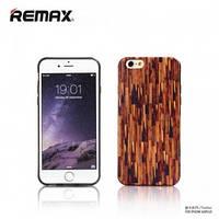 Чехол Remax Wood Series для iPhone 6 силикон коричневый