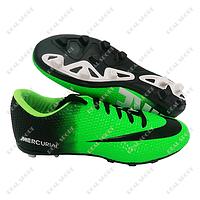 Бутсы (копы) Nike Mercurial Green FB180012 (р-р 40-44, зелено-черный)