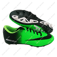Бутсы (копы) Nike Mercurial Green FB180012 (р-р 40-44, зелено-черный)