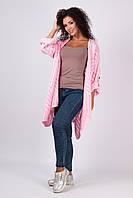 Вязаный женский кардиган Джаз розовый