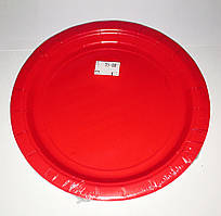 Тарілки паперові червоні 17 см.
