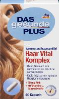 Витаминный комплекс для укрепления волос, ногтей и кожи Das Gesunde Plus Haar Vital Komplex Kapseln, 60 St