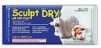Пластика самозатвердевающая, белая, 0.5 кг, Sculpt Dry, Mungyo