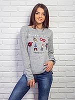 Стильная кофта женская с нашивками p.42-48 VM2064-3