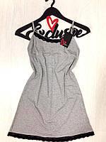 Изысканная женская ночная сорочка на тонких бретелях ТМExclusive