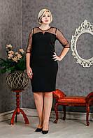 Оригинальное праздничное платье черное р.50-54 V301-02