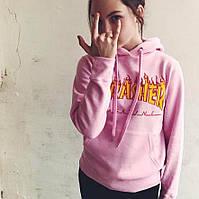 Thrasher Pink худи женская • Фотки оригинал • Трешер розовая толстовка