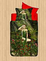 Полуторное постельное белье  сатин 3D  Dantela Vita  Sekret