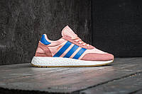 💎Adidas Iniki Женские легкие кроссовки на осень Adidas Iniki Runner W Haze Coral/Blue/Gum (Топ качество) 💎