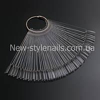 Палитра - веер на кольце прозрачная на 50 шт