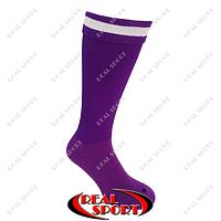Гетры футбольные FB020122 (носок-махра, х-б, верх-нейлон, р-р 40-45, фиолетовый)