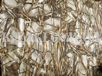 Маскировочная сеть 1,5х3м КАМЫШ ДУБ полотно-сетка с мелкими ячейками