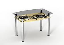 Стол стеклянный двухполочный Sentenzo Камелия